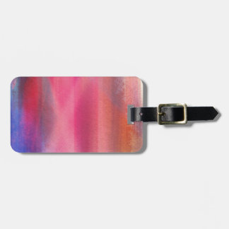 Abstract paints luggage tag