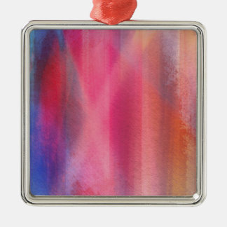 Abstract paints metal ornament