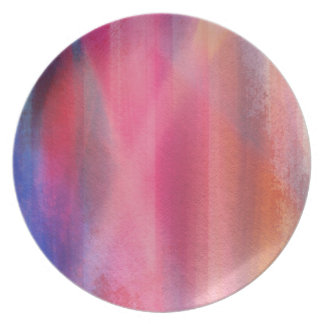 Abstract paints plate