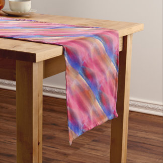 Abstract paints short table runner