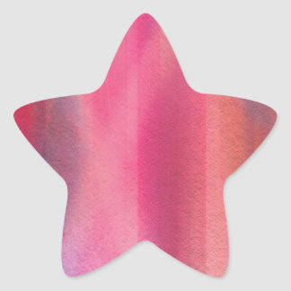Abstract paints star sticker