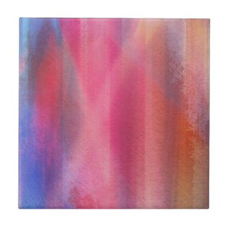 Abstract paints tile
