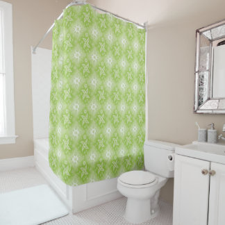 abstract paisley green pattern. shower curtain
