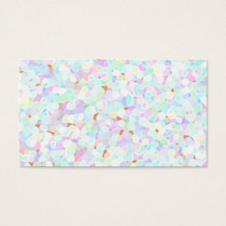 Abstract pale pastel shapes business card