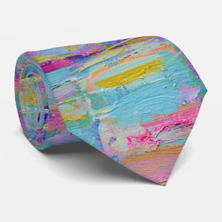 Abstract Palette Knife Art Tie