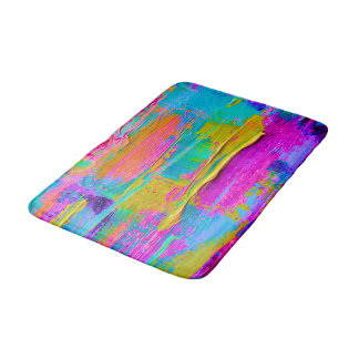 Abstract Palette Knife Painting Bath Mat
