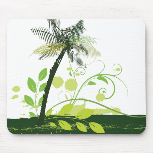 Abstract Palm Tree Mousepad