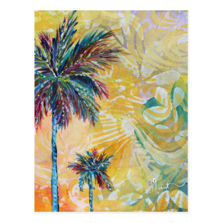 Abstract Palm Tree Postcard