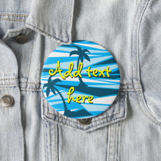 Abstract palm trees 10 cm round badge