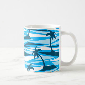 Abstract palm trees coffee mug
