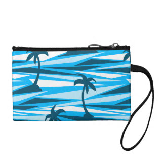 Abstract palm trees coin purse