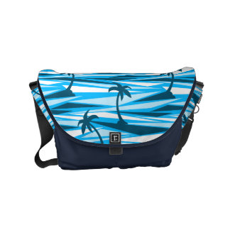 Abstract palm trees courier bags