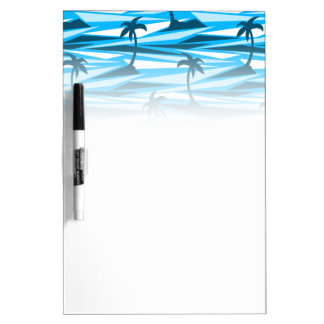 Abstract palm trees dry erase board