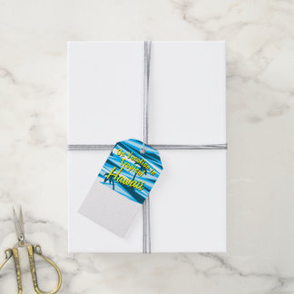 Abstract palm trees gift tags