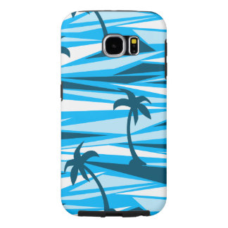 Abstract palm trees samsung galaxy s6 cases
