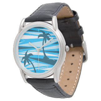 Abstract palm trees watch