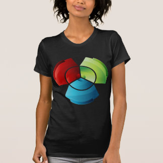 Abstract Partitioned Pie Chart T-shirt