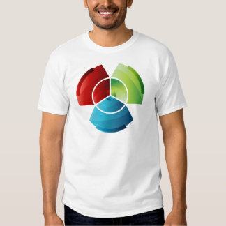 Abstract Partitioned Pie Chart Tee Shirt