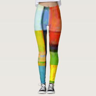 Abstract Pastel background Leggings