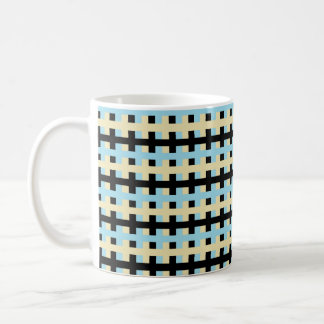 Abstract Pastel Blue, Beige and Black Coffee Mug