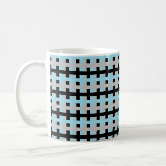 Abstract Pastel Blue, Silver and Black Coffee Mug