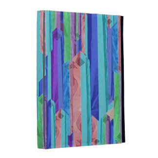 Abstract Pastel Color Bars iPad Folio Cover