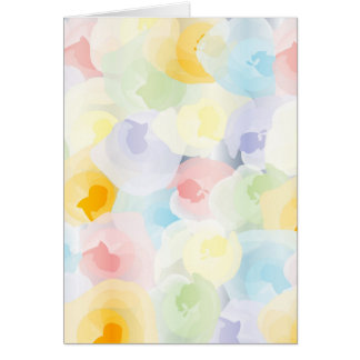 Abstract Pastel Floral Greeting Card