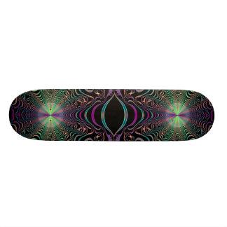 Abstract Pastel Fractal Web Skateboard Deck