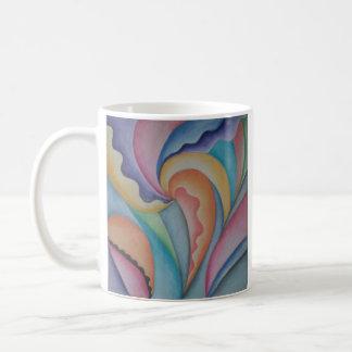 Abstract Pastel Garden Beverage Mug
