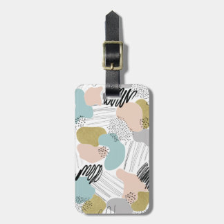 Abstract Pastel Luggage Tag