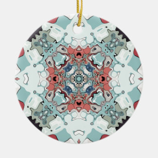 Abstract Pastel Mandala Ceramic Ornament