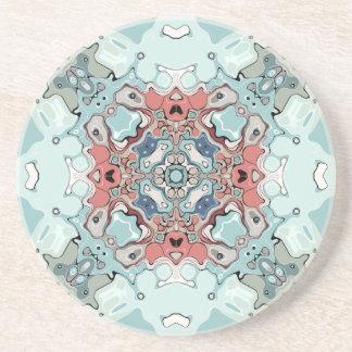 Abstract Pastel Mandala Coaster
