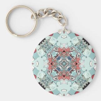 Abstract Pastel Mandala Key Ring