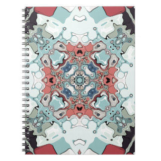 Abstract Pastel Mandala Spiral Notebook