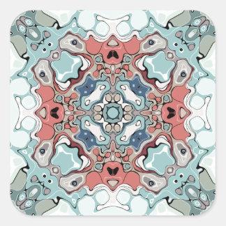 Abstract Pastel Mandala Square Sticker