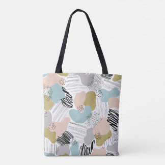 Abstract Pastel Patterned Tote Bag