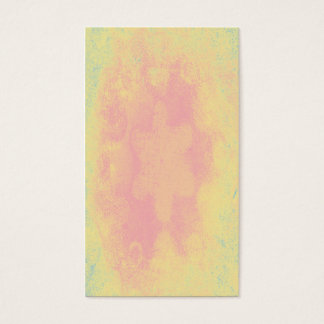 Abstract pastel pink and yellow flower texture business card