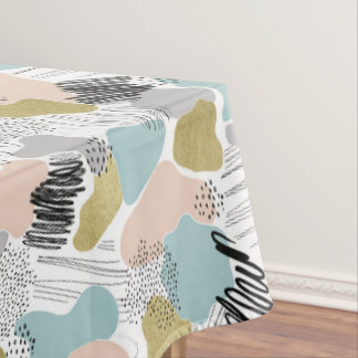 Abstract Pastel Plate Tablecloth
