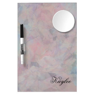 Abstract Pastels Dorm Essentials Dry Erase Board With Mirror