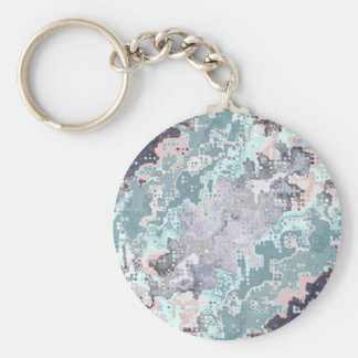 Abstract Pastels Pattern Key Ring