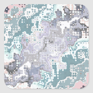 Abstract Pastels Pattern Square Sticker