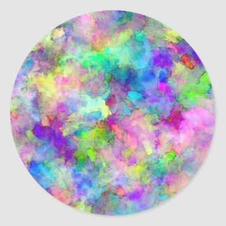 Abstract Patches of Color Round Sticker