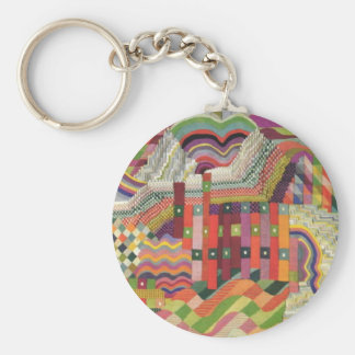ABstract patchwork design Keychain