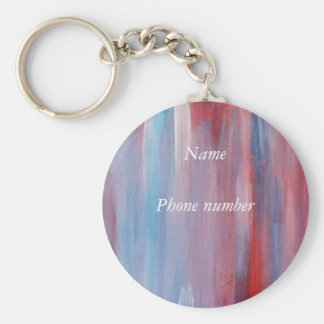 Abstract patriotic Art Key Ring