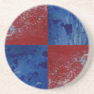 Abstract Patrotic Country Drink Coaster