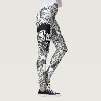 Abstract Patter Deeply Rooted Leggings