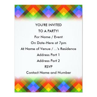 Abstract Pattern. 11 Cm X 14 Cm Invitation Card