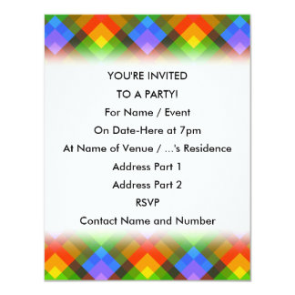 Abstract Pattern. 11 Cm X 14 Cm Invitation Card