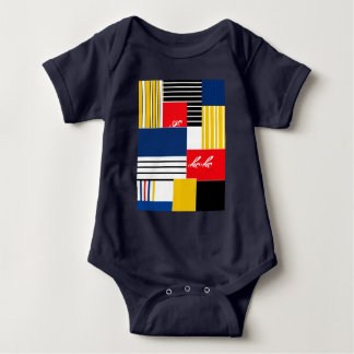 Abstract pattern . baby bodysuit
