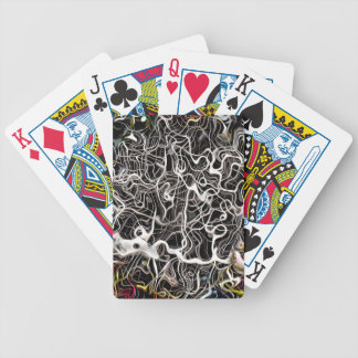 Abstract pattern backdrop texture bicycle playing cards